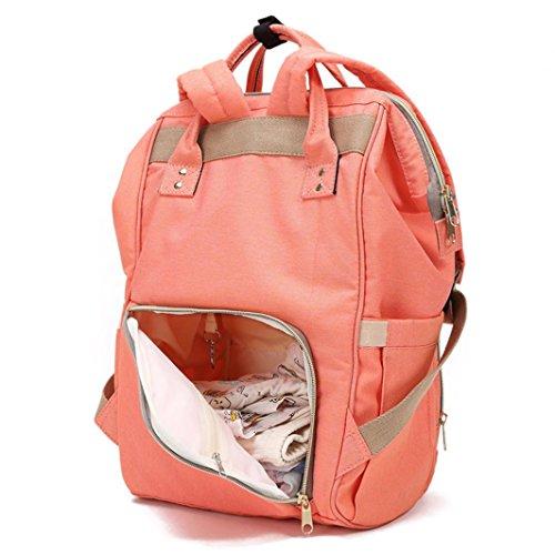 Rucksäcke,Chshe Mama Tasche Windel Tasche Mit Großer Kapazität Baby - Tasche Reisen Rucksack Desiger Krankenpflege Tasche (Orange) Orange