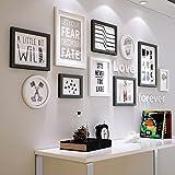 DENGJU Bilderrahmen Weiß Schwarz Massivholz Fotowand Wohnzimmer Schlafzimmer Bilderrahmen Wandrahmen Wandrahmen Kreative Kombinationen Moderne Einfache Restaurants Fotowände ( Farbe : A )