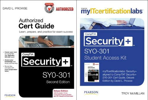 CompTIA Security+ SYO-301 Cert Guide with MyITCertificationlab Bundle por David L. Prowse