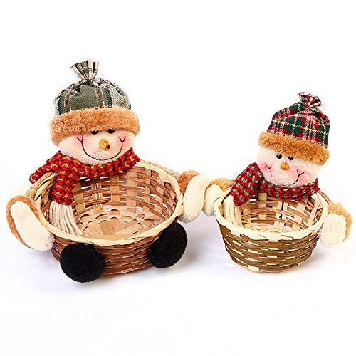 XSWE 6PC Weihnachts-Süßigkeiten-Speicher Korb Dekoration Santa Claus Speicher Korb Geschenk