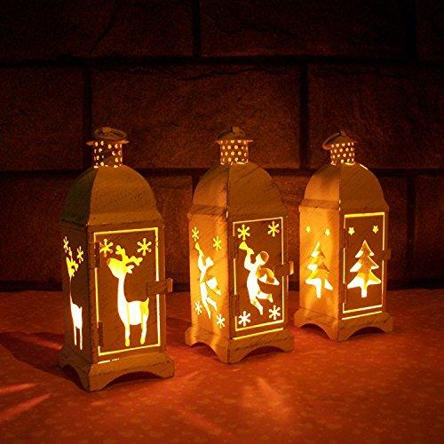 ean Glas Schmiedeeisen Kerzenleuchter Retro Eisen Leuchter Ornaments Glas Hänge Leuchter Party - 3 ()