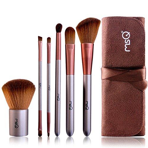 Travel kit 8 pinceaux maquillage et pochette café