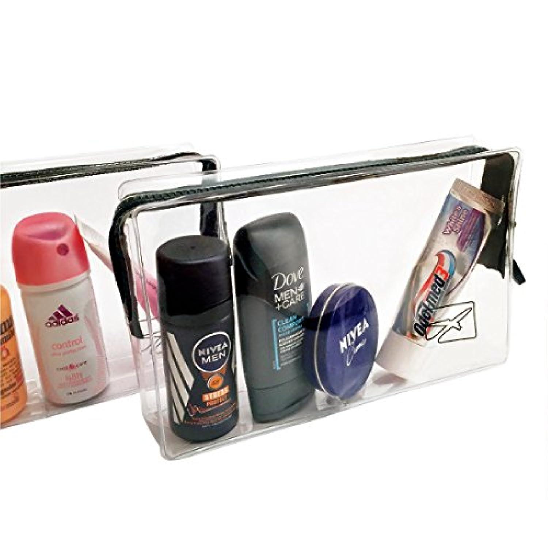 nouveaux styles 5ede7 bbbbf Trousse de toilette transparente pour avion - bagages en cabine et bagage à  main - format bagages à main - voyages en avion - volume 1 litre