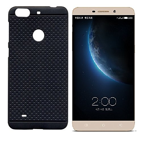 Premium Dotted Black Rubberised Soft Back Case Skin Cover For LeTV Le 1s / LeEco Le 1s