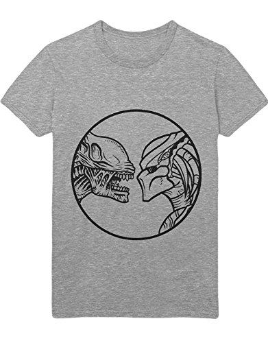 Kostüm Ripley Ellen Alien - T-Shirt Alien VS. Predator Z100088 Grau L