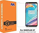 AA™ Oneplus 5T Premium Pro Hd+ Crystal Clear Tempered Glass Screen Protector For Oneplus 5T/one plus 5t/1+5t(LIMITED PROMOTINAL OFFER TEMPERED GLASS WITH HYBRID COVER SHOWN IN IMAGE)