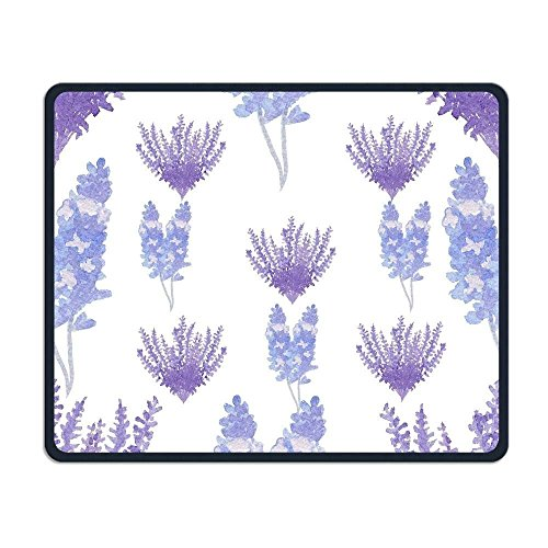 Wireless Mouse Pad, Lavender Purple Floral Print Mouse Pads, Magic Keyboard PC Gaming Optical Laptop Wired SurfaceMouse Pad Mat for Women Men at Home or Work (Purple Wireless Mouse)
