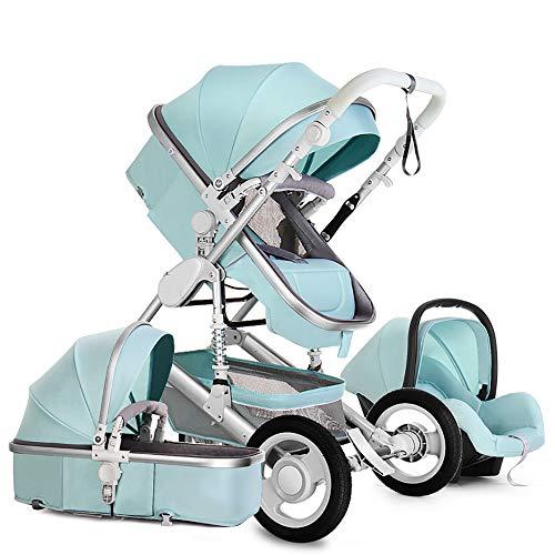 Baby Stroller,Babyfond-JTBS,T900 Folding Travel System Pushchair,Lightweight Sleeping Bassinet,Hand-held Safe Seat for 0-3 Year Old Newborn (Light Blue)