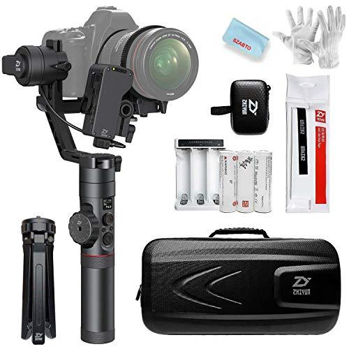 Zhiyun Crane V2 3 Achse Brushless Handy Gimbal Stabilisator mit Kabellos Fernbedienung für Mirrorless Kamera Sony A7 Serie/Panasonic LUMIX Serie/Nikon J Serie/Canon M Serie mit Pergear Reinigung Set
