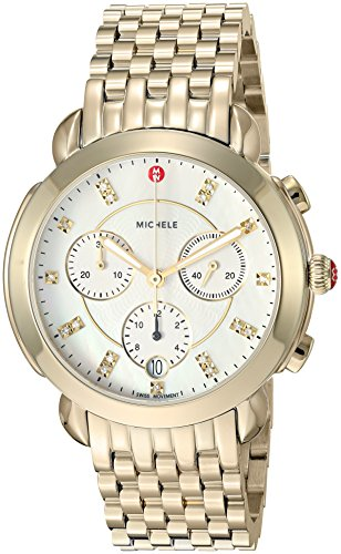 Michele Women's Swiss Quartz Stainless Steel Casual Watch, Color Gold-Toned (Model: MWW30A000019)