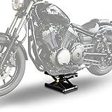 ConStands - Motorrad-Hebebühne Hydraulisch M mit Sicherung Schwarz 500 KG Tragkraft Motorradlift Motorrad-Scheren-Heber