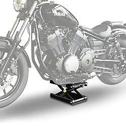 ConStands - Motorrad-Hebebühne für Suzuki Intruder C 800/ Intruder M 1800 R, LS 650 Savage Hydraulisch Sicherung Schwarz