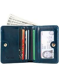 Kattee Porte-monnaie Porte-cartes Portefeuille Anti RFID Femme Homme Cuir Vintage