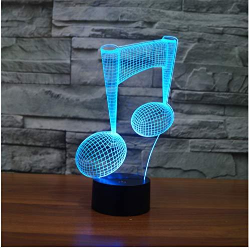 usik Note LED Musik 3D Lampe Nachtlicht Acryl bunte musikalische Atmosphäre Lampe Kind Dekoration ()