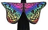 Culater Mariposa Tela Suave Hadas áNgel Ninfa Disfraz Fiesta Comedia (Multicolor)