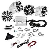 Pyle 800 Watt (4) Wetterfeste Lautsprecher, Lautsprecher-Kit für Motorrad-, ATV-, Motorschlitten
