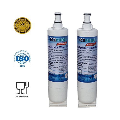 2 Pack Whirlpool 4396510 Compatible Water Filter Refrigerator RFC0500A (Whirlpool Filter 2 Pack)