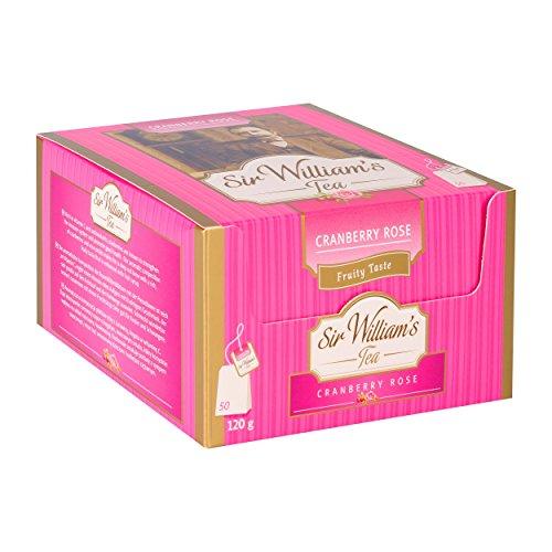 SIR WILLIAM`S CRANBERRY ROSE 50 Stk. Teebeutel; Beuteltee im Bag - Cranberry-rosen