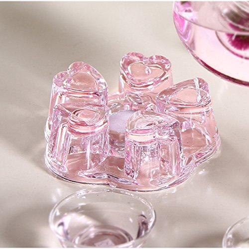 TAMUME Große Glas Stövchen (Rosa)