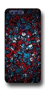 SEI HEI KI Designer Back Cover For Huawei Honor 8 - Multicolor