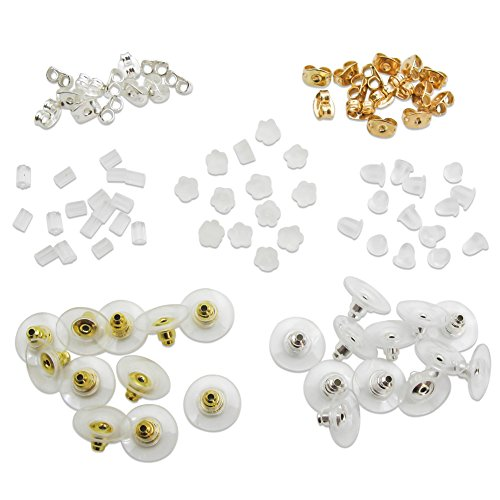 TOAOB Earring Safety Backs Earring Keepers Mix Color For Jewellery Making Pack of 700pcs