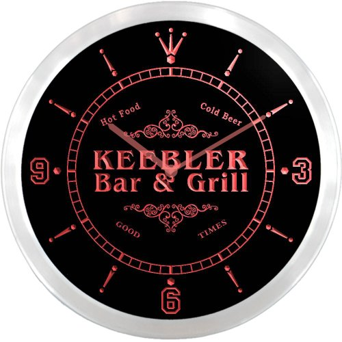 ncu22854-r-keebler-family-name-bar-grill-cold-beer-neon-sign-led-wall-clock