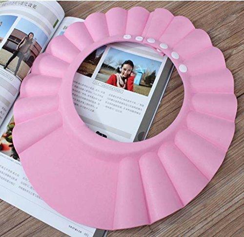 DDLBiz® Schampoo Baden Dusche schützen weiche Kappe Hut für Baby-Kinder (Pink)