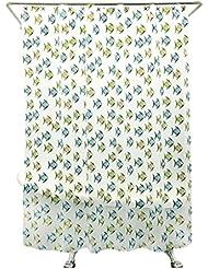 LUYIASI- Cortinas de ducha Estilo Europeo Simple Moda Tropical pescado baño cortinas impermeable espesamiento para evitar Mojón Mist transparente EVA cortina de ducha (equipado con ganchos) Shower Curtain ( Tamaño : 180cm*180cm )