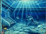 Keramik Fliesen - Atlantis - von Jeff Wilkie - Küche Aufkantung / Bad Dusche