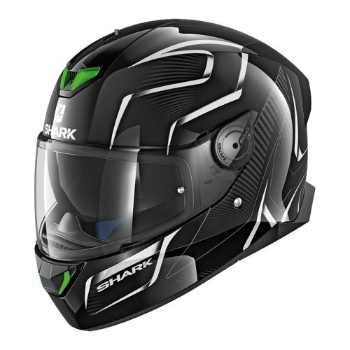 SHARK SKWAL 2Flynn cascos de motocicleta, color negro/blanco, talla S
