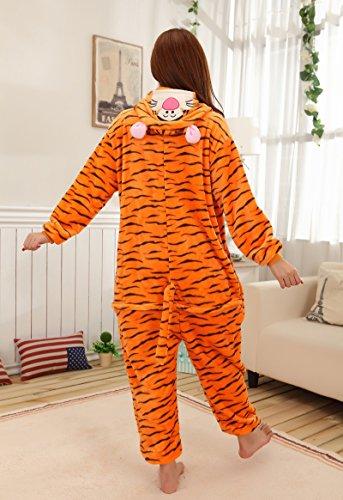 Tonwhar Kigurumi Pyjama Adulte Anime Cosplay Halloween Costume Onesie Tigre