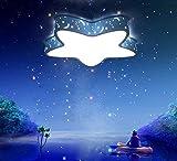 ZMH LED Kinder Lampe Kinderzimmer Deckenleuchte Deckenlampe aus Acryl mit Stern Form Desgin für Kinderzimmer Kita Kindergarten Babyzimmer Blau (Groß -Kaltweiß Warmweiß 2 in 1)