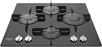 Hotpoint FTGHG 641 D/HA(BK) Piano cottura Direct Flame, Nero
