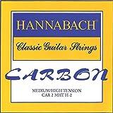 Hannabach Cordes Guitare classique CARBONE Medium/High tension Aigue Jeu de 3 Aig?es