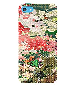 PrintVisa Girly Ethnic Flower Design 3D Hard Polycarbonate Designer Back Case Cover for Apple iPhone 5C