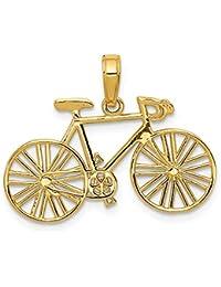 DIAMOND2DEAL INC Colgante de Oro Amarillo de 14 K para Bicicleta