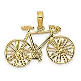 Sonia Jewels Anhänger Fahrrad 14 Karat Gelbgold poliert 26 mm x 18,5 mm