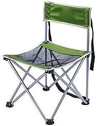 Qian Dossier rabattable portable en plein air avec une petite chaise de pêche Mazar chaise camping plage