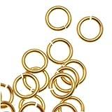 Artistic Wire Chain Maille Jump Ringe Gold Farbe nicht trüben Messing–20GA/ID 3,18mm/150pc