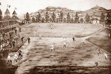 Feelingathome-Leinwand-Bild-Kalifornien-Liga-Baseball-GelŠnde-cm57x86-Kunstdruck-auf-Leinwand