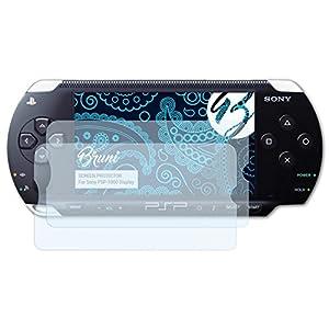 Bruni Schutzfolie kompatibel mit Sony PSP-1000 Display Folie, glasklare Displayschutzfolie (2X)