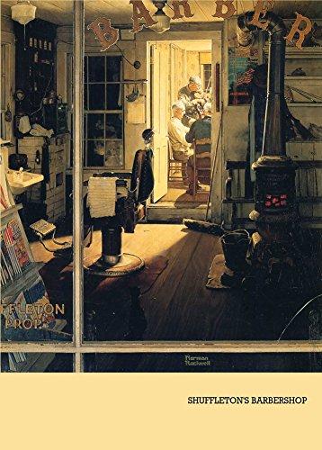 Vintage peluquería y barbería de salón de SHUFFLETON de niño esperando en 250gsm cuadro decorativo brillante A3 de póster