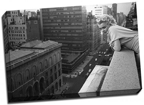 Marilyn Monroe Póster de Impresión de Lienzo ciudad de Nueva York tamaño grande 30x 50,8cm A1