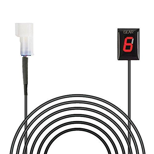 IDEA Wasserdichte Motorrad Ganganzeige 6 Speed LED Digital Anzeige Rot LED Display Plug & Play für Kawasaki -