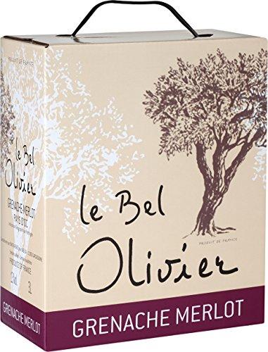 Le Bel Olivier Rouge Grenache & Merlot Bag-in-Box, 2017 trocken (1 x 3,0 - Trocken Boot