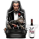 Scherzartikel - Sitzbezug für Autos Motiv The Godfather Gentleman - Boss lustige Geschenkidee Autositzbezug mit lustigem Mini T-Shirt
