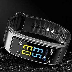 Delidraw 2 in 1 Sports Bluetooth Headset,Portable Bluetooth Headset,Smart Bracelet with Bluetooth Earbuds HeartRate Monitor Waterproof Watch