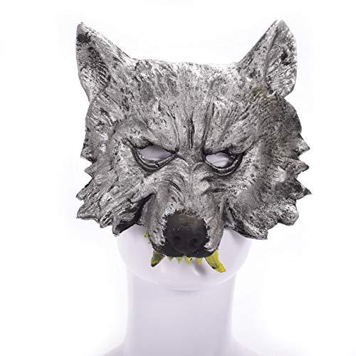 (LBAFS Halloween Tier Wolf Kopf Maske Prom Party Parodie Festival Supplies Requisiten)