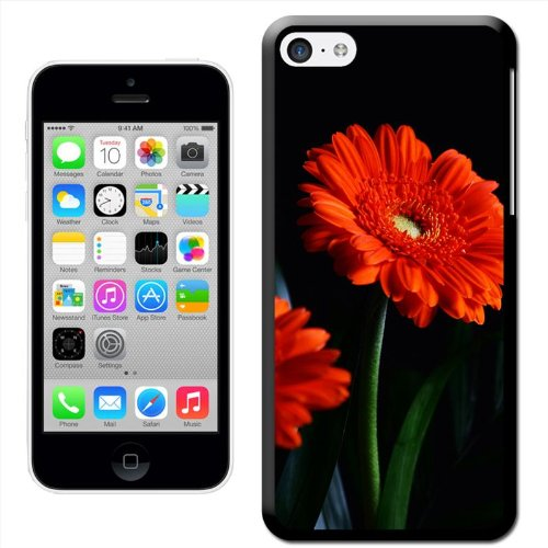 Fancy A Snuggle 'Field of Red Tulips' Hard Case Clip On Back Cover für Apple iPhone 5 C Vibrant Red Flowers