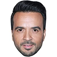 Luis Fonsi Máscaras de personajes famosos, caras de carton